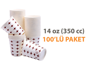 Karton Bardak 14 Oz 100'lü Meşrubat Bardağı