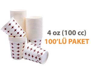 Karton Bardak 4 Oz 100'lü Kahve ve Espresso Bardağı