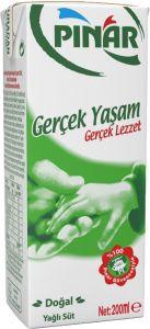 Pınar 200 ml Süt Tam Yağlı