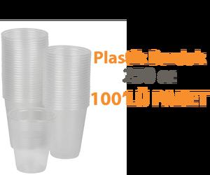 Temizlik Plastik Bardak Şeffaf 100'lü