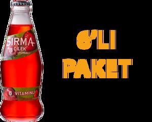 Sırma Çilekli Soda 200 ml B Vitaminli 6 Adet