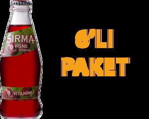 Sırma Vişneli Soda 200 ml B Vitaminli 6 Adet