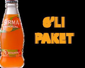 Sırma Mandalinalı Soda 200 ml C Vitaminli 6 Adet