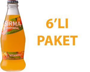 Sırma Portakallı Soda 200 ml C Vitaminli 6 Adet